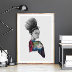 Body Of Feathers by Linn Wold Art Print