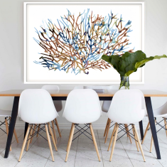 Coral Water, Framed Art