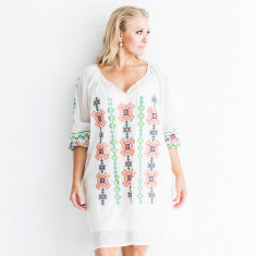 Inga embroidered cotton dress