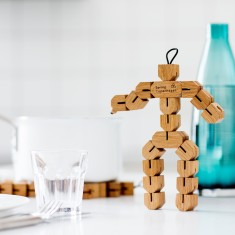 Clumsy Hans Wooden Sculpture Trivet