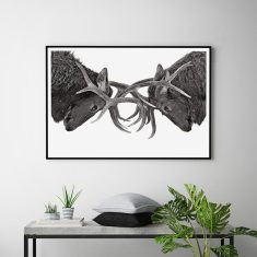 Eye To Eye Scandi Style Art Print