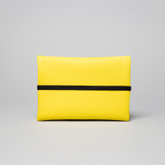 Vegan leather pouch in yellow