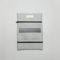 Vegan leather pouch in grey