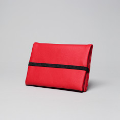 Vegan leather pouch in red