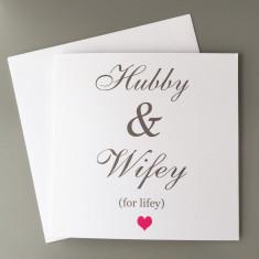 Hubby & Wifey Card