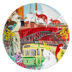 Australiana Round Platter Melamine