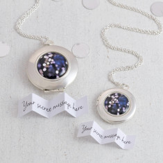 Personalised Sparkle Locket Necklace