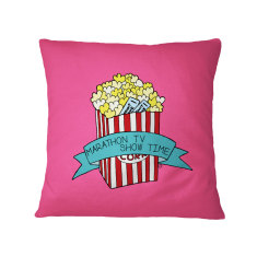 Movie Marathon - Kawaii Popcorn Food Cushion Cover