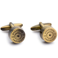 Shotgun bullet cufflinks