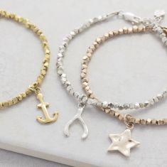 Nugget charm bracelet