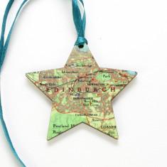 Personalised map location star keepsake