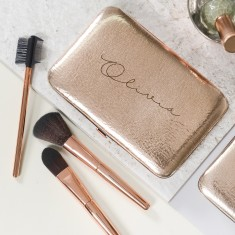 Personalised Rose Gold Make Up Brush Set