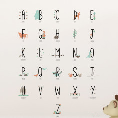 Woodland Animal Alphabets wall sticker