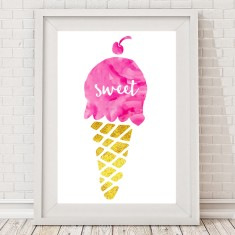 Sweet ice cream print