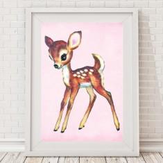 Vintage Blush Deer Print