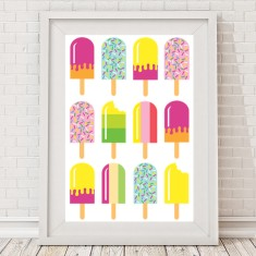 Ice cream pop rainbow print