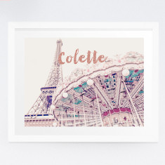 Personalised Paris photography print