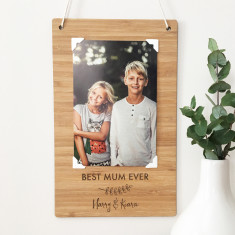 Personalised Portrait Photo bamboo wall hanging
