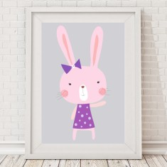Purple Milly Bunny Print
