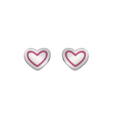 Heart Earrings (pink or silver)