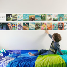 Illustrated Alphabet Wall Sticker
