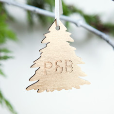 Personalised Gold Couple's Christmas Tree Bauble