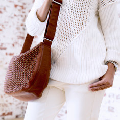 Leather slouchini bag (various colours)