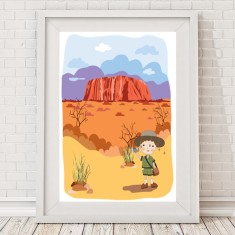 Iconic Australia Uluru print (for girls or boys)