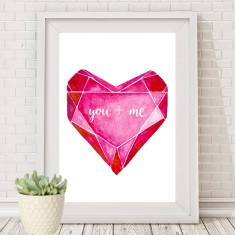 Valentine's love heart print