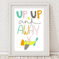 Up up and away print