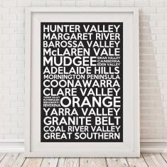 Australian wine regions print