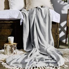 Florence Throw in Soft Grey