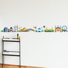 Sydney Cartoon Skyline wall sticker