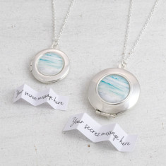 Personalised Ocean Locket Necklace