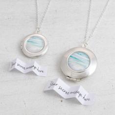 Personalised Ocean Locket Necklace