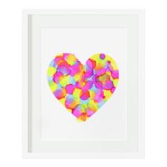 Confetti heart print