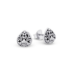 Eeva Sterling Silver Tear Stud Earrings