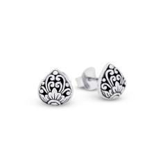 Eeva Sterling Silver Tear Stud Earrings