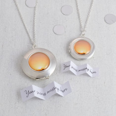 Personalised Sunset Locket Necklace