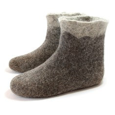 Women's Wool Booties In Grey Mountains