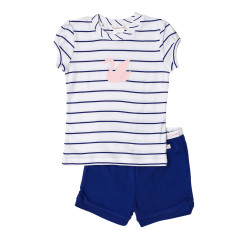 Blue Stripe Swan Pjs