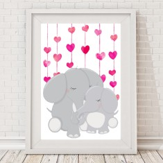 Mummy's Love Elephant Print (Boy or Girl)