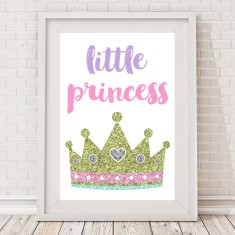 Little Princess sparkle crown print