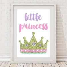 Little Princess sparkle crown print