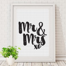 Mr & Mrs print (various styles)