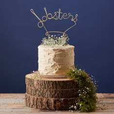 Lobsters steel cake topper