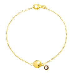 Felicity bead charm bracelet with smoky quartz