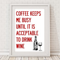 Coffee & wine print
