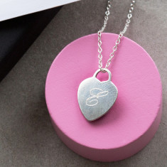 Personalised Sterling Silver Heart Necklace Charm