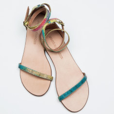 Capri multicolour snakeskin sandals